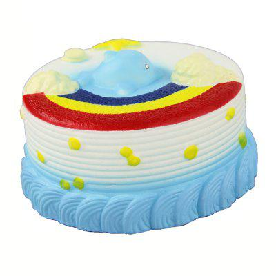Jumbo Squishy Sea Cake Relieve Stress Toy simulation cake bear pu slow rebound squishy food