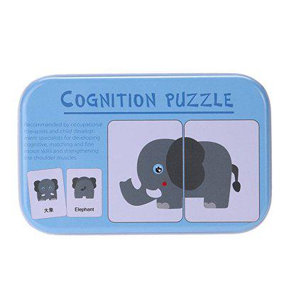 Baby Learn English Pair Puzzle Cognitive Card Infant 32pcs/Box mastering english prepositions