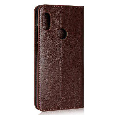 Genuine Leather Wallet Case Cover for Xiaomi Redmi Note 5 Pro genuine leather