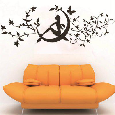 Art Decal Decoration Fashion Romantic Flower Wall StickerWall Stickers<br>Art Decal Decoration Fashion Romantic Flower Wall Sticker<br><br>Function: Decorative Wall Sticker<br>Material: Vinyl(PVC)<br>Package Contents: 1 x Wall Sticker<br>Package size (L x W x H): 60.00 x 3.00 x 3.00 cm / 23.62 x 1.18 x 1.18 inches<br>Package weight: 0.1100 kg<br>Product size (L x W x H): 90.00 x 60.00 x 0.10 cm / 35.43 x 23.62 x 0.04 inches<br>Product weight: 0.1000 kg<br>Quantity: 1<br>Subjects: Fashion,Leisure,Flower,Botanical<br>Suitable Space: Garden,Living Room,Bathroom,Bedroom,Dining Room,Office,Hotel,Cafes,Kids Room<br>Type: Plane Wall Sticker