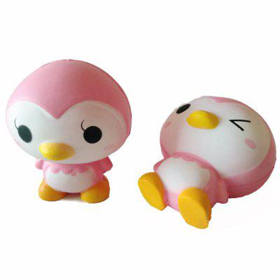 New Jumbo Squishy Slow Rebound PU Toy Pink Little Penguin Toy simulation cake bear pu slow rebound squishy food