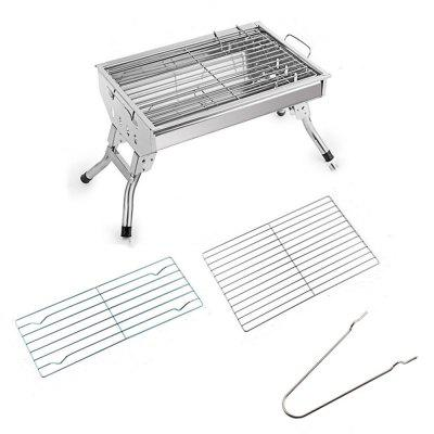 Outdoor Charcoal Courtyard BBQ Stainless Steel Medium Barbecue Frame outdoor bbq barbecue fan air blower 4 x aa