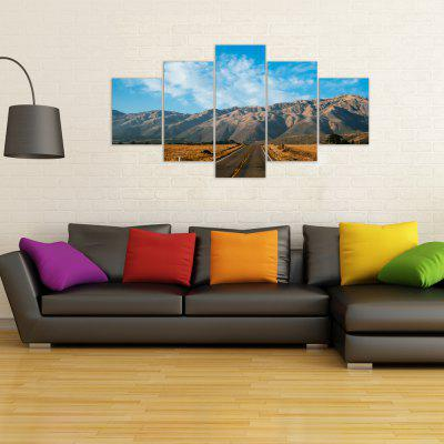 W318 Mountain Road Unframed Wall Canvas Prints for Home Decorations 5PCS burning guitar pattern unframed wall art canvas paintings
