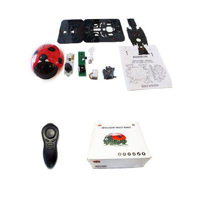 Parrokmon DIY Remote Control Ladybug Intelligent Insect Robot KitOther RC Toys<br>Parrokmon DIY Remote Control Ladybug Intelligent Insect Robot Kit<br><br>Age: Above 6 years old<br>Channel: 4-Channels<br>Charging Time: About 120mins<br>Detailed Control Distance: 25~30m<br>Feature: Radio Control<br>Material: Plastic, Electronic Components<br>Model Power: Built-in rechargeable battery<br>Package Contents: 1 x RC DIY ladybug robot kit set (Battery included), 1 x Controller, 1 x English Manual, 1 x USB Cable charger<br>Package size (L x W x H): 17.50 x 17.50 x 9.50 cm / 6.89 x 6.89 x 3.74 inches<br>Package weight: 0.3500 kg<br>Playing Time: About 30mins<br>Product size (L x W x H): 16.00 x 10.00 x 8.00 cm / 6.3 x 3.94 x 3.15 inches<br>Product weight: 0.2800 kg<br>Remote Control: 2.4GHz Wireless Remote Control<br>Type: Robot