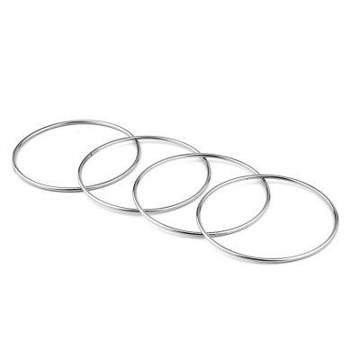 Chinese Linking Rings Magic Stage Trick 10cm Set of 4 Stainless Steel for Kids trick toy water bottle magic performance prop for kids adult