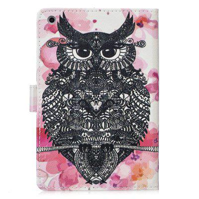 For iPad Mini 1/2/3 Case Cover Fashion Painted PU Leather Wallet Stand cartoon painted flower owl for kindle paperwhite 1 2 3 case flip bracket stand pu cover for amazon kindle paperwhite 1 2 3 case