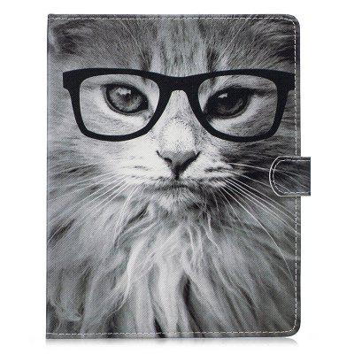 For iPad 2/3/4 9.7 inch Fashion Cat Owl Pattern Case PU Leather Flip Stand cartoon painted flower owl for kindle paperwhite 1 2 3 case flip bracket stand pu cover for amazon kindle paperwhite 1 2 3 case