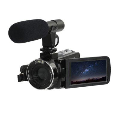 DV08 FHD Camcorder IMX COMS 1080P 24MP 16X Zoom Touch Panel Microphone