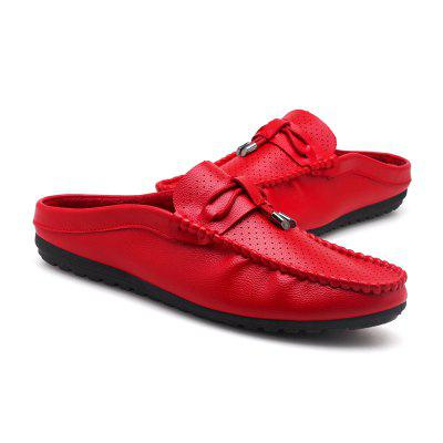Summer Fashion Breathable Solid Comfortable SlippersFlats &amp; Loafers<br>Summer Fashion Breathable Solid Comfortable Slippers<br><br>Available Size: 39 40 41 42 43 44<br>Embellishment: None<br>Gender: For Men<br>Outsole Material: Rubber<br>Package Contents: 1?Shoes(pair)<br>Pattern Type: Others<br>Season: Summer<br>Slipper Type: Outdoor<br>Style: Fashion<br>Upper Material: PU<br>Weight: 1.0200kg