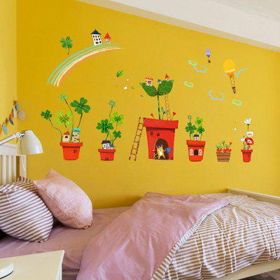 Creative Decoration Cartoon 3D Potted House Wall StickerWall Stickers<br>Creative Decoration Cartoon 3D Potted House Wall Sticker<br><br>Package Contents: 1 x Set of Wallpaper<br>Package size (L x W x H): 27.00 x 3.50 x 3.50 cm / 10.63 x 1.38 x 1.38 inches<br>Package weight: 0.1000 kg<br>Product size (L x W x H): 85.00 x 26.00 x 0.01 cm / 33.46 x 10.24 x 0 inches<br>Product weight: 0.0600 kg