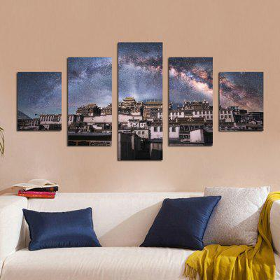 W325 Village Under Star Unframed Wall Canvas Prints for Home Decorations 5PCSPrints<br>W325 Village Under Star Unframed Wall Canvas Prints for Home Decorations 5PCS<br><br>Craft: Print<br>Form: Five Panels<br>Material: Canvas<br>Package Contents: 5 x Prints<br>Package size (L x W x H): 35.00 x 5.00 x 5.00 cm / 13.78 x 1.97 x 1.97 inches<br>Package weight: 0.2700 kg<br>Painting: Without Inner Frame<br>Product size (L x W x H): 30.00 x 80.00 x 1.00 cm / 11.81 x 31.5 x 0.39 inches<br>Product weight: 0.2630 kg<br>Shape: Vertical<br>Style: Artistic Style, Chic &amp; Modern, Fashion, Novelty<br>Subjects: Landscape<br>Suitable Space: Living Room,Bedroom,Dining Room,Office,Hotel,Cafes,Study Room / Office