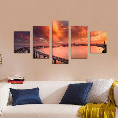 W329 Cross-Sea Bridge Unframed Wall Canvas Prints for Home Decorations 5PCSPrints<br>W329 Cross-Sea Bridge Unframed Wall Canvas Prints for Home Decorations 5PCS<br><br>Craft: Print<br>Form: Five Panels<br>Material: Canvas<br>Package Contents: 5 x Prints<br>Package size (L x W x H): 35.00 x 5.00 x 5.00 cm / 13.78 x 1.97 x 1.97 inches<br>Package weight: 0.2700 kg<br>Painting: Without Inner Frame<br>Product size (L x W x H): 30.00 x 80.00 x 1.00 cm / 11.81 x 31.5 x 0.39 inches<br>Product weight: 0.2630 kg<br>Shape: Vertical<br>Style: Artistic Style, Chic &amp; Modern, Fashion, Novelty<br>Subjects: Landscape<br>Suitable Space: Living Room,Bedroom,Dining Room,Office,Hotel,Cafes,Study Room / Office