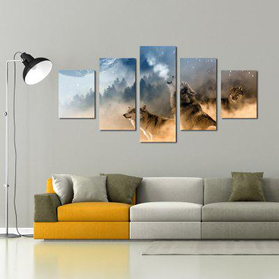 W339 Forest and Wolves Unframed Wall Canvas Prints for Home Decorations 5PCSPrints<br>W339 Forest and Wolves Unframed Wall Canvas Prints for Home Decorations 5PCS<br><br>Craft: Print<br>Form: Five Panels<br>Material: Canvas<br>Package Contents: 5 x Prints<br>Package size (L x W x H): 35.00 x 5.00 x 5.00 cm / 13.78 x 1.97 x 1.97 inches<br>Package weight: 0.2700 kg<br>Painting: Without Inner Frame<br>Product size (L x W x H): 30.00 x 80.00 x 1.00 cm / 11.81 x 31.5 x 0.39 inches<br>Product weight: 0.2630 kg<br>Shape: Vertical<br>Style: Chic &amp; Modern, Artistic Style, Fashion, Novelty, Animal<br>Subjects: Animal<br>Suitable Space: Living Room,Bedroom,Dining Room,Office,Hotel,Cafes,Study Room / Office,Boys Room