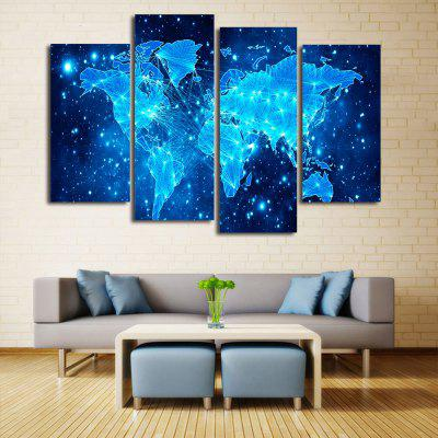 Blue Star Map Frameless Printed Canvas Wall Art Print 4PCSPrints<br>Blue Star Map Frameless Printed Canvas Wall Art Print 4PCS<br><br>Craft: Print<br>Form: Four Panels<br>Material: Canvas<br>Package Contents: 4 x Prints<br>Package size (L x W x H): 41.00 x 5.00 x 5.00 cm / 16.14 x 1.97 x 1.97 inches<br>Package weight: 0.4600 kg<br>Painting: Without Inner Frame<br>Product weight: 0.3600 kg<br>Shape: Horizontal Panoramic<br>Style: Art Deco<br>Subjects: Seascape<br>Suitable Space: Living Room,Bedroom,Dining Room,Office,Hotel,Cafes,Kids Room,Study Room / Office