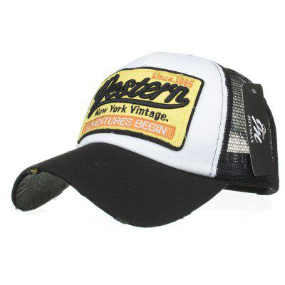 ZHAXIN 487 Western Embroidery Mesh Baseball Cap for Man