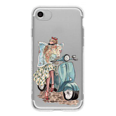 Painted Motorcycle Girl Transparent All-Inclusive Mobile Phone CaseiPhone Cases/Covers<br>Painted Motorcycle Girl Transparent All-Inclusive Mobile Phone Case<br><br>Compatible for Apple: iPhone 6 Plus, iPhone 6S Plus, iPhone 7, iPhone 7 Plus, iPhone 8, iPhone 8 Plus<br>Features: Back Cover<br>Material: TPU<br>Package Contents: 1 x Phone Case<br>Package size (L x W x H): 16.00 x 9.00 x 2.00 cm / 6.3 x 3.54 x 0.79 inches<br>Package weight: 0.0600 kg<br>Product size (L x W x H): 14.20 x 7.20 x 0.90 cm / 5.59 x 2.83 x 0.35 inches<br>Product weight: 0.0100 kg<br>Style: Transparent