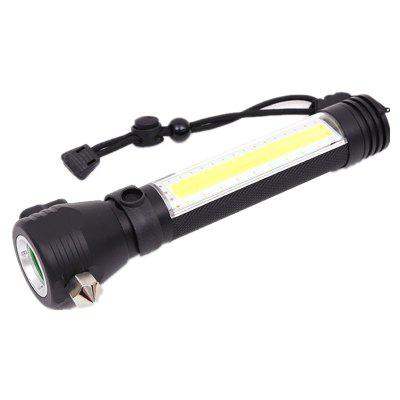Multi-Function Escape Rescue Flashlight Portable for Hiking Camping Traveling chiclits t6 multi function powerful solar escape rescue flashlight car emergency safety hammer torch usb power upgrade alar