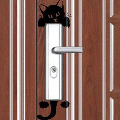 DIHE Originality Cute Cat Black and White On-Off Wall PosterWall Stickers<br>DIHE Originality Cute Cat Black and White On-Off Wall Poster<br><br>Function: Light Switch Stickers<br>Material: Self-adhesive Plastic<br>Package Contents: 1 x Wall Poster<br>Package size (L x W x H): 17.00 x 8.00 x 0.70 cm / 6.69 x 3.15 x 0.28 inches<br>Package weight: 0.0040 kg<br>Product size (L x W x H): 17.00 x 7.00 x 0.20 cm / 6.69 x 2.76 x 0.08 inches<br>Product weight: 0.0010 kg<br>Quantity: 1<br>Subjects: Animal<br>Suitable Space: Living Room<br>Type: Plane Wall Sticker