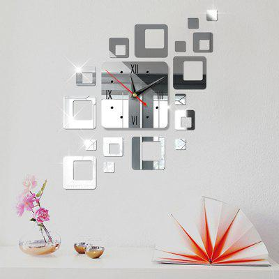 Creative European 3D Decorative Combination Acrylic Mirror ClockClocks<br>Creative European 3D Decorative Combination Acrylic Mirror Clock<br><br>Package Contents: 1 x Mirror Clock<br>Package size (L x W x H): 20.00 x 20.00 x 5.00 cm / 7.87 x 7.87 x 1.97 inches<br>Package weight: 0.2000 kg<br>Product weight: 0.1500 kg<br>Style: Fashion, Cute, Contemporary<br>Time Display: Analog<br>Type: Wall Clock