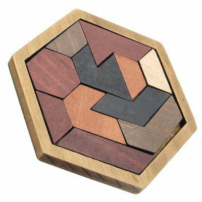 Creative Puzzles Wooden Tangram Jigsaw Board Geometric Shape Kid Educational Toy colorful number match game board kid figures counting math learning toy fun block board game wooden educational toy for children