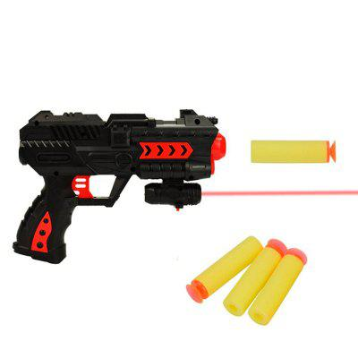 Amusing Toy Gun Soft Bullet Water Pistol Gift Kids Crystal Shooting Game Set 6034 bird cage style kid s shooting marbles game toy multicolored