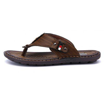 ZEACAVA Summer Beach Flip Flops Men Leather Slippers Male Flats Outdoor SandalsCasual Shoes<br>ZEACAVA Summer Beach Flip Flops Men Leather Slippers Male Flats Outdoor Sandals<br><br>Closure Type: Slip-On, Buckle Strap<br>Contents: 1 x Pair of Slippers<br>Function: Slip Resistant<br>Materials: Leather<br>Occasion: Holiday, Beach, Daily, Outdoor Clothing, Casual<br>Outsole Material: Rubber<br>Package Size ( L x W x H ): 30.00 x 20.00 x 10.00 cm / 11.81 x 7.87 x 3.94 inches<br>Package weight: 0.4000 kg<br>Pattern Type: Solid<br>Product weight: 0.3500 kg<br>Seasons: Spring,Summer,Autumn<br>Style: Comfortable, Fashion, Casual<br>Toe Shape: Round Toe<br>Type: Slippers<br>Upper Material: Leather
