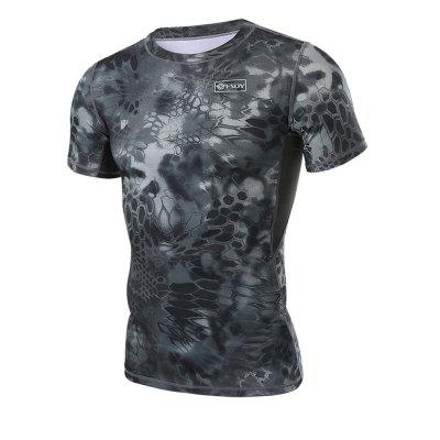 Mens Outdoor Short-sleeved Quick-drying Camo T-shirtSoft Shell Jackets<br>Mens Outdoor Short-sleeved Quick-drying Camo T-shirt<br><br>Activity: Fishing, Outdoor Lifestyle<br>Features: Breathable, Quick-drying<br>Gender: Men<br>Material: Polyester Fiber<br>Package Content: 1 ? T-shirt<br>Package size: 1.00 x 1.00 x 1.00 cm / 0.39 x 0.39 x 0.39 inches<br>Package weight: 0.1700 kg<br>Product weight: 0.1600 kg<br>Season: Summer