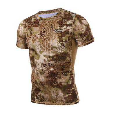 Mens Outdoor Short-sleeved Quick-drying Camo T-shirtSoft Shell Jackets<br>Mens Outdoor Short-sleeved Quick-drying Camo T-shirt<br><br>Activity: Fishing, Outdoor Lifestyle<br>Features: Breathable, Quick-drying<br>Gender: Men<br>Material: Polyester Fiber<br>Package Content: 1 ? T-shirt<br>Package size: 1.00 x 1.00 x 1.00 cm / 0.39 x 0.39 x 0.39 inches<br>Package weight: 0.1800 kg<br>Product weight: 0.1700 kg<br>Season: Summer