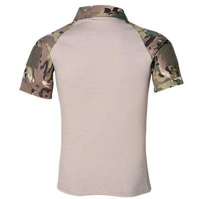 Mens Outdoor Short Sleeve Wear-resistant Camouflage Military Training ClothingSoft Shell Jackets<br>Mens Outdoor Short Sleeve Wear-resistant Camouflage Military Training Clothing<br><br>Activity: Camping and Hiking, Outdoor Lifestyle<br>Features: Quick-drying, Breathable<br>Material: Polyester Fiber<br>Package Content: 1 ? T-shirt<br>Package size: 1.00 x 1.00 x 1.00 cm / 0.39 x 0.39 x 0.39 inches<br>Package weight: 0.3400 kg<br>Product weight: 0.3300 kg<br>Season: Summer