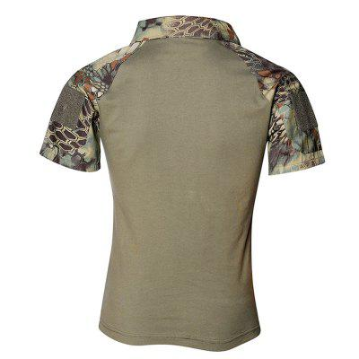 Mens Outdoor Short Sleeve Wear-resistant Camouflage Military Training ClothingSoft Shell Jackets<br>Mens Outdoor Short Sleeve Wear-resistant Camouflage Military Training Clothing<br><br>Activity: Camping and Hiking, Outdoor Lifestyle<br>Features: Quick-drying, Breathable<br>Material: Polyester Fiber<br>Package Content: 1 ? T-shirt<br>Package size: 1.00 x 1.00 x 1.00 cm / 0.39 x 0.39 x 0.39 inches<br>Package weight: 0.3500 kg<br>Product weight: 0.3400 kg<br>Season: Summer