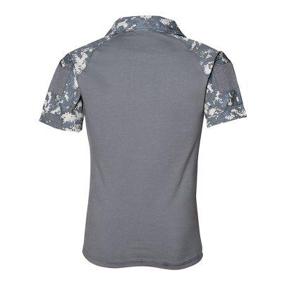 Mens Outdoor Short Sleeve Wear-resistant Camouflage Military Training ClothingSoft Shell Jackets<br>Mens Outdoor Short Sleeve Wear-resistant Camouflage Military Training Clothing<br><br>Activity: Camping and Hiking, Outdoor Lifestyle<br>Features: Quick-drying, Breathable<br>Material: Polyester Fiber<br>Package Content: 1 ? T-shirt<br>Package size: 1.00 x 1.00 x 1.00 cm / 0.39 x 0.39 x 0.39 inches<br>Package weight: 0.3200 kg<br>Product weight: 0.3100 kg<br>Season: Summer