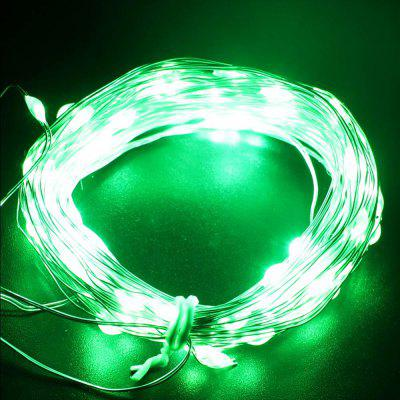 YouOKLight USB 10m Waterproof Green Light Silver Wire DIY String LightLED Strips<br>YouOKLight USB 10m Waterproof Green Light Silver Wire DIY String Light<br><br>Brand: YouOKLight<br>CCT/Wavelength: 490-560nm<br>Connector Type: USB<br>Features: Waterproof, IP-65<br>Input Voltage: DC 5V<br>Length: 10m<br>Material: Copper<br>Optional Light Color: Green<br>Package size (L x W x H): 11.00 x 11.00 x 6.00 cm / 4.33 x 4.33 x 2.36 inches<br>Package weight: 0.0320 kg<br>Product size (L x W x H): 1,000.00 x 0.50 x 0.30 cm / 0.39 x 0.2 x 0.12 inches<br>Product weight: 0.0280 kg<br>Rated Power (W): 4W<br>Type: LED Strip<br>Waterproof: Yes