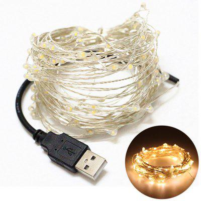 YouOKLight USB 10m Waterproof Cold Warm White Blue Red Silver Wire DIY String Light