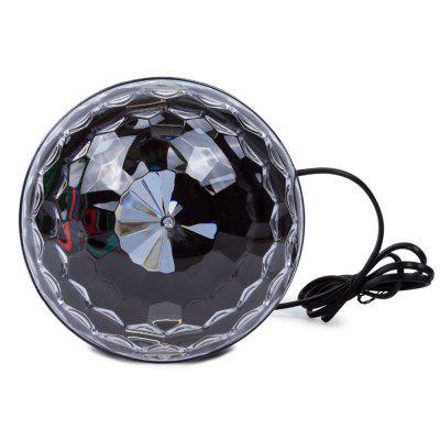 YouOKLight RGB  Bluetooth LED Disco Ball Light AC85-265V US PlugStage Lighting<br>YouOKLight RGB  Bluetooth LED Disco Ball Light AC85-265V US Plug<br><br>Body Color: Black<br>Control Mode: Remote Control, Voice-activated<br>Function: For party, For Decoration<br>Laser Color: RGB Light<br>Material: ABS<br>Package Contents: 1 x RGB Crystal Magic Ball (Adapter Length: 140 cm / 55 Inch ),  1 x Remote Control (3V lithium battery included), 1 x Product Manual, 1 x RGB Crystal Magic Ball (Adapter Length: 140 cm / 55 Inch ),  1 x Remote Control (3V lithium battery included), 1 x Product Manual<br>Package size (L x W x H): 18.50 x 18.50 x 16.50 cm / 7.28 x 7.28 x 6.5 inches, 18.50 x 18.50 x 16.50 cm / 7.28 x 7.28 x 6.5 inches<br>Package weight: 0.6520 kg<br>Plug Type: US plug<br>Shape: Cylinder<br>Total Emitters: 6<br>Type: RGB Stage Light<br>Wavelength Range / CCT: 460-470nm,520-530nm,620-640nm