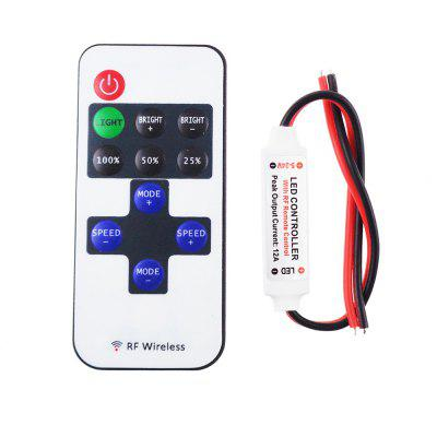 YouOKLight Mini RF 433.92MHz Single Color LED Strip Dimmer Controller Set - White Red Black