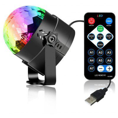 Buy RGB YouOKLight 3W RGB Mini Magic Ball Colorful Car Stage Lights USB Voice Activated LED Disco Crystal Rotating Lamp for $12.72 in GearBest store