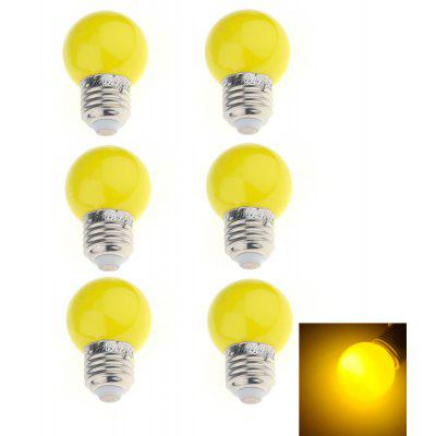 6PCSYouOKLight E27 3W 250lm 6 F5 DIP Ampoule de vacances RED / BLUD / Yellow