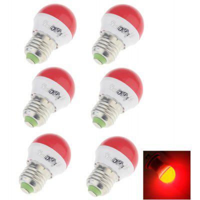 Buy RED YouOKLight Romantic Style E27 3W 240lm 6SMD 2835 LED Red / Blue / Green / Yellow Holiday Light Bulb 6PCS for $6.09 in GearBest store