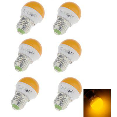 Buy YELLOW YouOKLight Romantic Style E27 3W 240lm 6SMD 2835 LED Red / Blue / Green / Yellow Holiday Light Bulb 6PCS for $6.09 in GearBest store