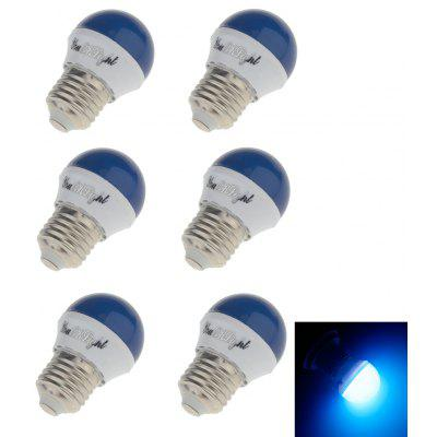 Buy BLUE YouOKLight Romantic Style E27 3W 240lm 6SMD 2835 LED Red / Blue / Green / Yellow Holiday Light Bulb 6PCS for $6.09 in GearBest store