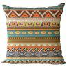 Bohemian Pattern Linen Pillow Case Decorative Pillowcase - COLORMIX