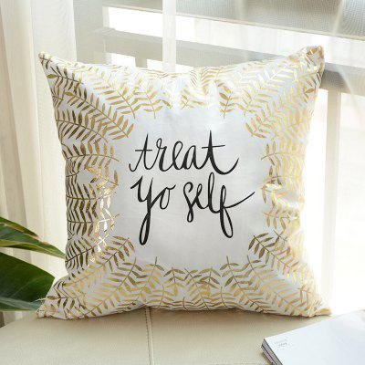 Creative Gold Printing Pillow Case Decorative PillowcasePillow<br>Creative Gold Printing Pillow Case Decorative Pillowcase<br><br>Category: Pillow Case<br>For: All<br>Material: Cotton<br>Occasion: Living Room, Bedroom<br>Package Contents: 1 x Pillow Case<br>Type: Novelty, Fashion, Decoration