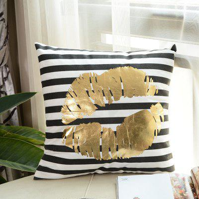 Lips Pattern Gold Printing Pillow Case Decorative PillowcasePillow<br>Lips Pattern Gold Printing Pillow Case Decorative Pillowcase<br><br>Category: Pillow Case<br>For: All<br>Material: Cotton<br>Occasion: Bedroom, Living Room, KTV, Bar<br>Package Contents: 1 x Pillow Case<br>Type: Novelty, Fashion, Decoration