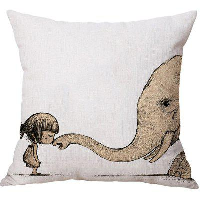 2PCS Elephant Pattern Linen Pillow Case Decorative PillowcasePillow<br>2PCS Elephant Pattern Linen Pillow Case Decorative Pillowcase<br><br>Category: Pillow Case<br>For: All<br>Material: Cotton Linen<br>Occasion: Bar, Bedroom, KTV, Living Room<br>Package Contents: 2 x Pillow Case<br>Package size (L x W x H): 35.00 x 25.00 x 4.00 cm / 13.78 x 9.84 x 1.57 inches<br>Package weight: 0.2100 kg<br>Product size (L x W x H): 45.00 x 45.00 x 0.20 cm / 17.72 x 17.72 x 0.08 inches<br>Product weight: 0.2000 kg<br>Type: Fashion, Novelty, Decoration