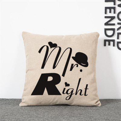 2PCS Mr. Mrs Pattern Linen Pillow Case Decorative PillowcasePillow<br>2PCS Mr. Mrs Pattern Linen Pillow Case Decorative Pillowcase<br><br>Category: Pillow Case<br>For: All<br>Material: Cotton Linen<br>Occasion: Bar, Bedroom, KTV, Living Room<br>Package Contents: 2 x Pillow Case<br>Package size (L x W x H): 35.00 x 25.00 x 4.00 cm / 13.78 x 9.84 x 1.57 inches<br>Package weight: 0.2100 kg<br>Product size (L x W x H): 45.00 x 45.00 x 0.20 cm / 17.72 x 17.72 x 0.08 inches<br>Product weight: 0.2000 kg<br>Type: Fashion, Novelty, Decoration