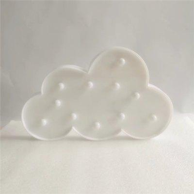 Home Decoration Clouds Shape Decoration LED Night Light Table LampDecorative Lights<br>Home Decoration Clouds Shape Decoration LED Night Light Table Lamp<br><br>Decorative Style: Nordic Style, Simple and Modern<br>Features: Gift, Creative<br>For: Clothing Store, Cafe, School, Bar, Home<br>LED Quantity: 11<br>Material: ABS<br>Package Contents: 1 x Light<br>Power (W): 3<br>Power Supply: Battery<br>Product size (L x W x H): 30.00 x 22.00 x 2.80 cm / 11.81 x 8.66 x 1.1 inches<br>Type: Decorative Lighting