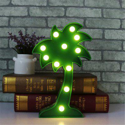 Home Decoration Coconut Tree Shape Decoration LED Night Light Table LampDecorative Lights<br>Home Decoration Coconut Tree Shape Decoration LED Night Light Table Lamp<br><br>Decorative Style: Nordic Style, Simple and Modern<br>Features: Creative, Gift<br>For: Home, Bar, School, Cafe<br>LED Quantity: 11<br>Package Contents: 1 x Light<br>Power (W): 3<br>Power Supply: Battery<br>Product size (L x W x H): 25.00 x 15.50 x 3.00 cm / 9.84 x 6.1 x 1.18 inches<br>Type: Decorative Lighting