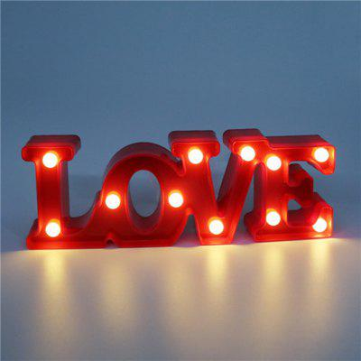 Home Decoration LOVE Decoration LED Night Light Table Lamp