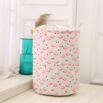 Flamingo Waterproof Linen Folding Storage Basket Dirty Clothing Laundry Blade