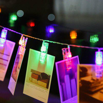 LED 20pcs-Clips Light String Color Lights Decorative LightsDecorative Lights<br>LED 20pcs-Clips Light String Color Lights Decorative Lights<br><br>Cable length: 220cm<br>Features: Creative<br>For: Home, Bar, Cafe, Restaurant<br>LED Quantity: 20<br>Material: ABS<br>Package Contents: 1 x Light string<br>Power Supply: Battery<br>Type: Decorative Lighting